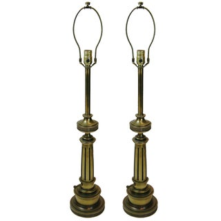 Stiffel Brass Federal Lamps - A Pair
