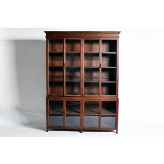 British Colonial Breakfront Bookcase