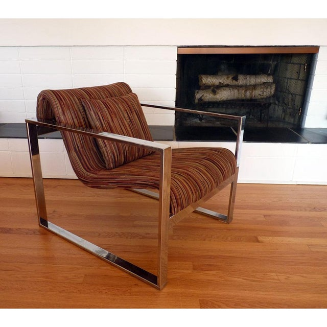 Milo Baughman Mcm Chrome Lounge Chair Chairish