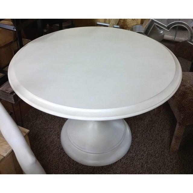 White Bassett 48 Quot Round Dining Table Chairish