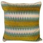 Image of Blue-Green Linen Pillow
