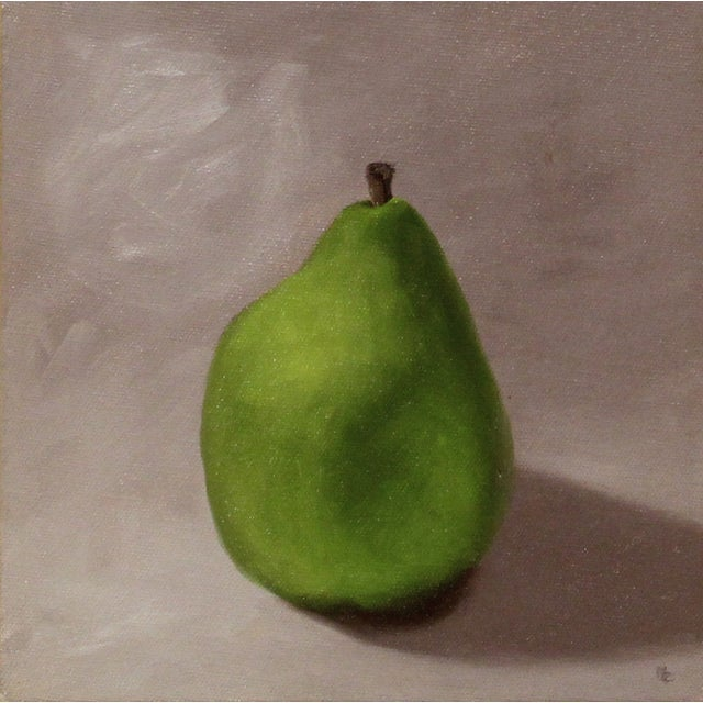 Green Pear Still Life Oil Painting - Image 1 of 2