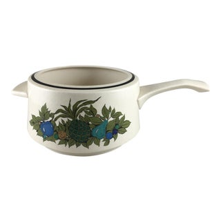 Fall Bounty Stoneware Open Fondue Pot