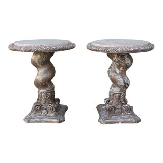 Italian Twisted Column Tables - A Pair