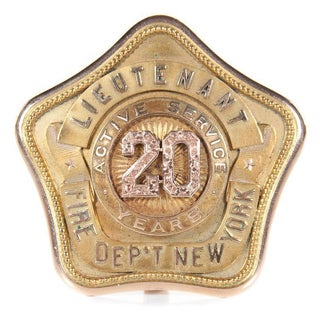 1918 New York Fire Department Antique Badge