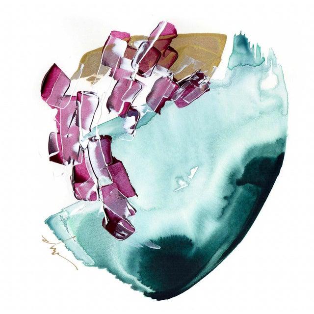 "Beth Winterburn Original Abstract Painting - ""8/1. 1."" - Image 2 of 3"