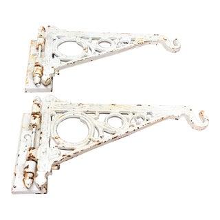Eastlake Style Iron Brackets - A Pair
