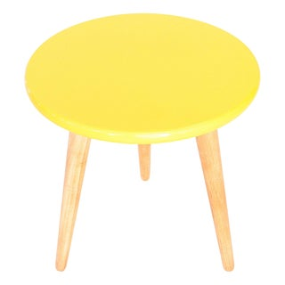 High Lacquer Stool - Yellow