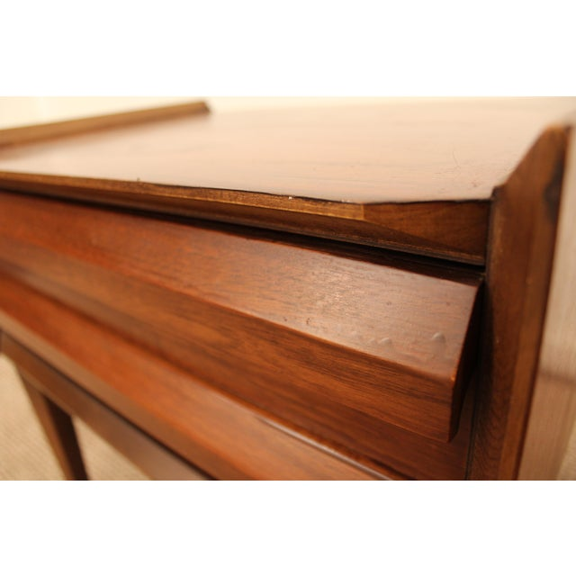 Lane Mid-Century Danish Modern Walnut Nighstands- A Pair - Image 9 of 11