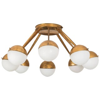 Eight-Globe Flush Mount Ceiling Light by Stilnovo