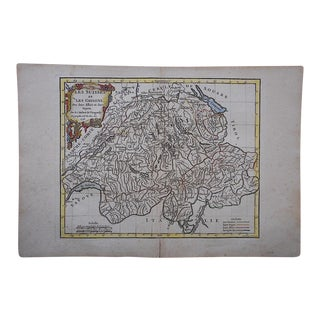 Antique 18th C. Map-Switzerland