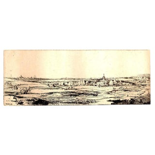 'Goldweigher's Field' Rembrandt Van Rijn Etching