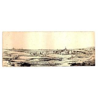 'Goldweigher's Field' Rembrandt Van Rijn Etching