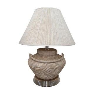 Richard Lindley Rattan Basket Lamp
