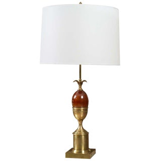 1960s French Maison Charles Bronze Table Lamp