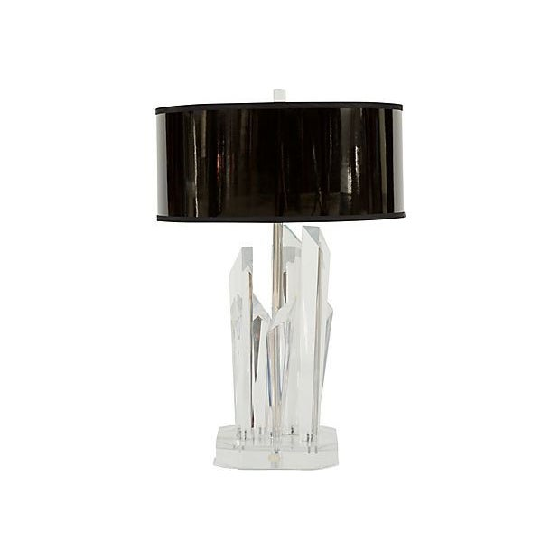 Lucite Icicle Lamp - Image 2 of 2