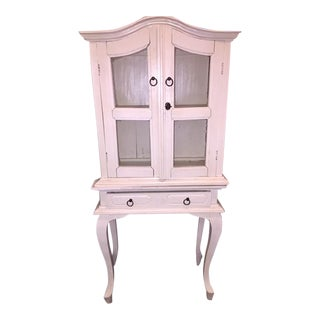 Shabby Chic White-Washed Armoire