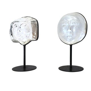 Erik Hoglund Boda Glass Figures - Pair