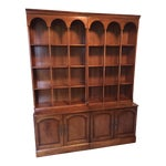Image of Trio of Ceiling-High Bookshelves with Storage Cabinets -Set of 3