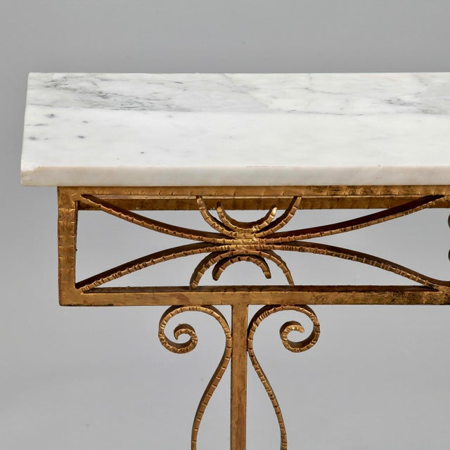 Spanish Wall Hung Console with Gilt Metal and Marble Top - Image 4 of 8