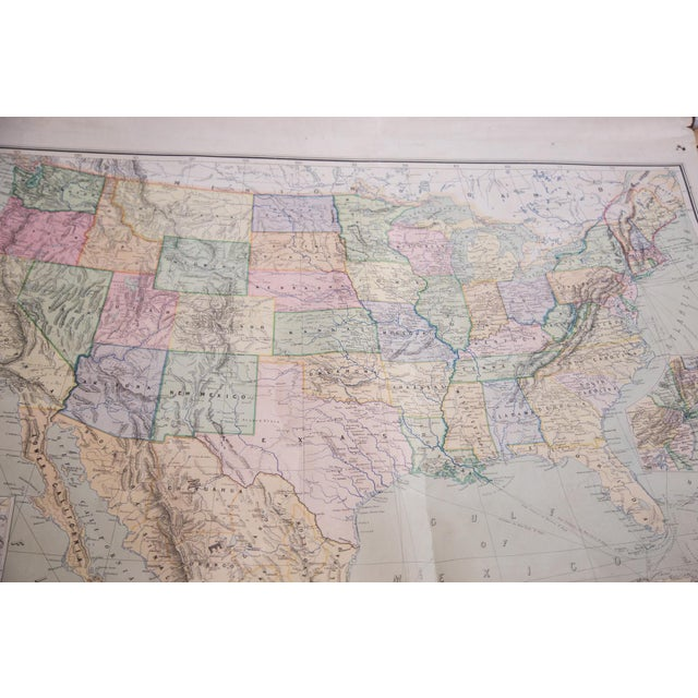 USA & Mexico Antique Pull Down Map - Image 3 of 10