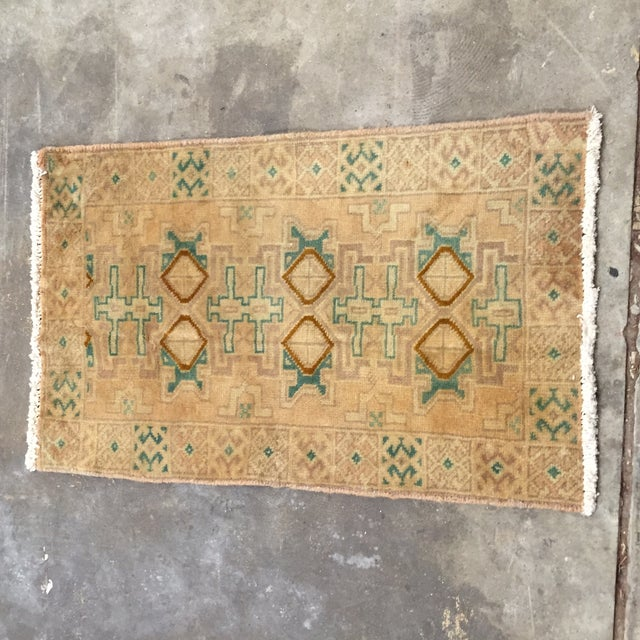 "Turkaman Handmade Persian Rug 1'6"" x 2'8"" - Image 2 of 10"
