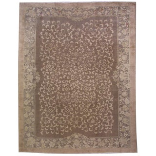 1910s Antique Chinese Hand Made Fete Rug- 9' x 12'
