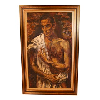Vintage Oil Portrait of Italian Male