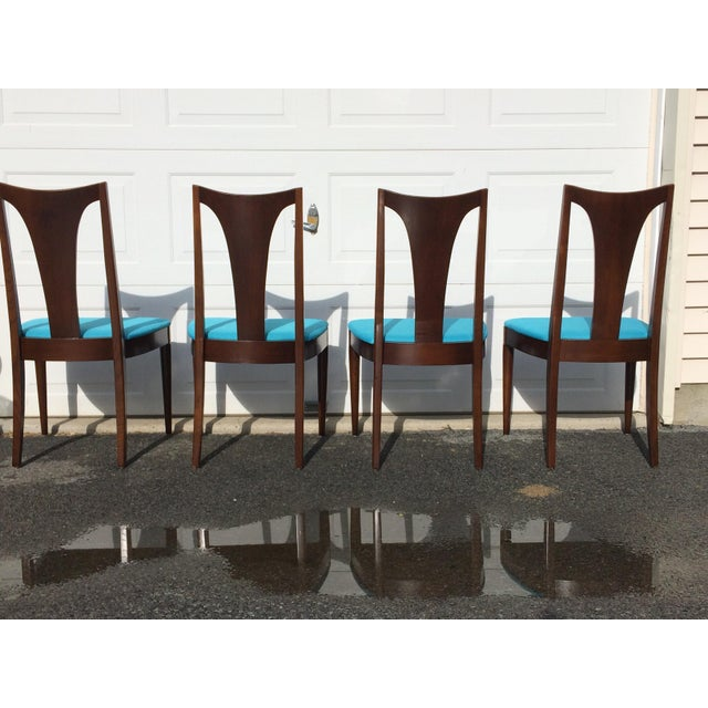 Image of Broyhill Restored Walnut Chairs - Set of 4
