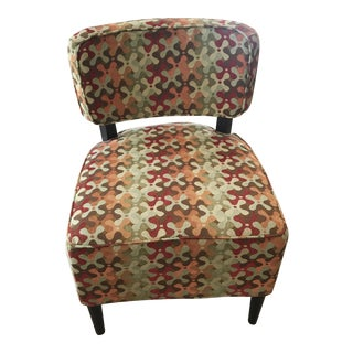 Retro Pattern Upholstered Chair