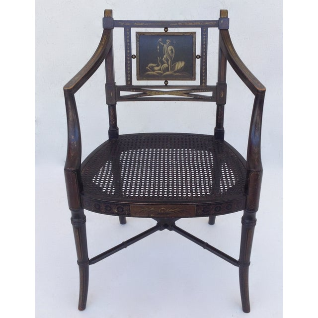 Maison Jansen Hand-Painted Regency Chair - Image 4 of 11