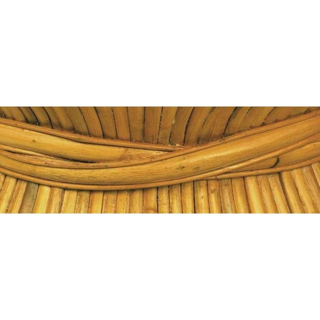 Sheaf Of Bamboo Coffee Table Attr McGuire - Image 7 of 7