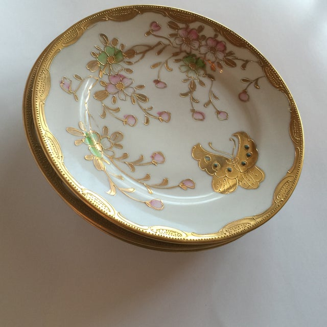 Mid-Century Asian Butterfly Plates - Set of 4 - Image 2 of 10
