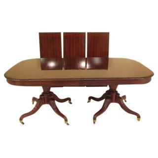 John Widdicomb Carved Walnut Dining Table
