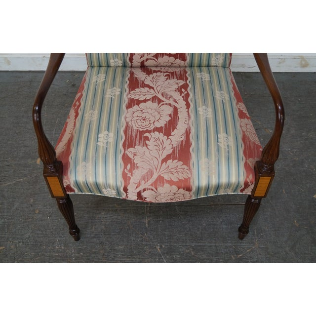 Image of Wood & Hogan Custom Mahogany Inlaid Sheraton Style Lolling Chair