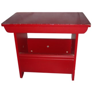 Simple Red Stool