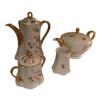 1963 Vintage Hutchenreuther Signed Tea Set - Set of 4