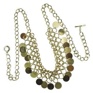 Huge Statement 1970s Monet Modernist Bib Necklace