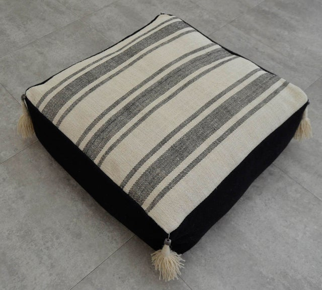 Turkish Handmade Kilim Floor Cushion Chairish