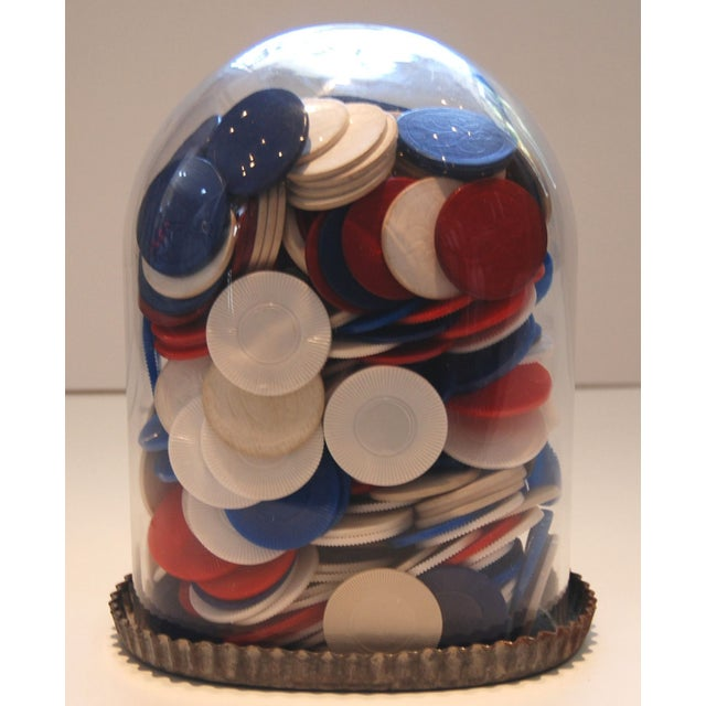 Poker Chips Under Glass - Image 2 of 6