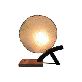 1950's Brass Wood Table Lamp