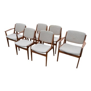 Arne Vodder Vamo Sønderborg Ella Teak Dining Chairs - Set of 6