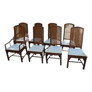 Founders Wooden Dining Room Chairs - Set of 8