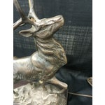 Image of Vintage Bronze Stag Table Lamp