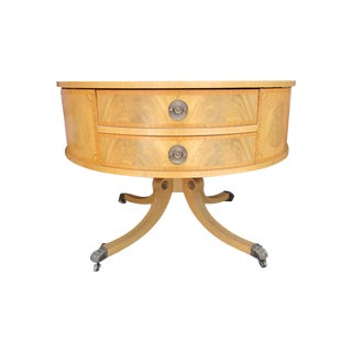 Regency Style Revolving Pedestal Drum Table