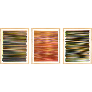 Line Series Monoprint - Triptych No. 6, 16, 20