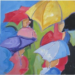 Umbrellas I Painting