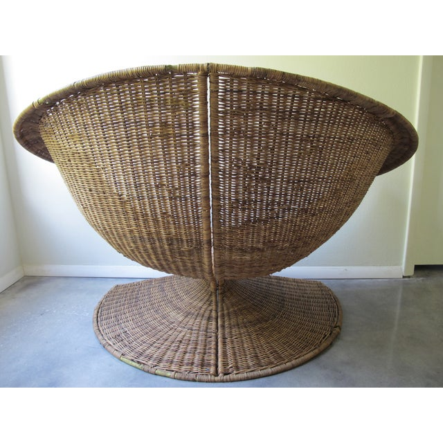 Miller Yee Fong Lotus Chair: 1960s Wicker Lounge - Image 5 of 11