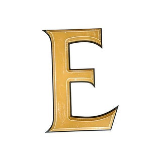 "Large 18"" Salvaged Wooden Marquee Letter E"