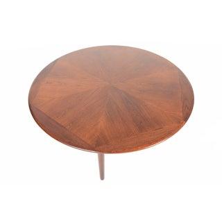 Danish Modern Round Starburst Teak Coffee Table